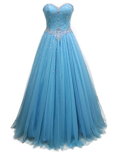 HarveyBridal Beading Crystal Lace Quinceanera Dresses For Formal Evening Party