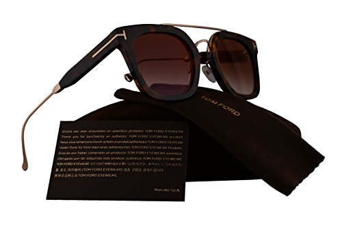 Tom Ford FT0541 Alex-02 Sunglasses Havana Gold w/Brown Gradient Mirror Lens 55U TF541 FT 541 TF - Frames Tom Spectacle Ford