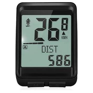 Ordenador de Bicicleta de Ciclo Velocímetro con Sensor de Cadencia - Negro 2173