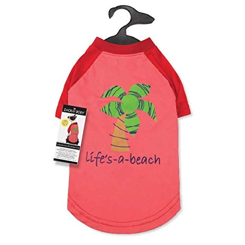 Zack & Zoey Under the Sea SPF40 Tee Shirt for Dogs, 14