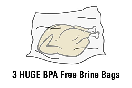 Brining Bag, 3 Pack, Extra Large Brine Bag BPA Free Heavy Duty Gusseted Resealable 24