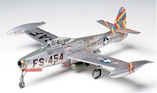 #61060 Tamiya Republic F-84G Thunderjet 1/48 Scale Plastic Model Kit,Needs Assembly