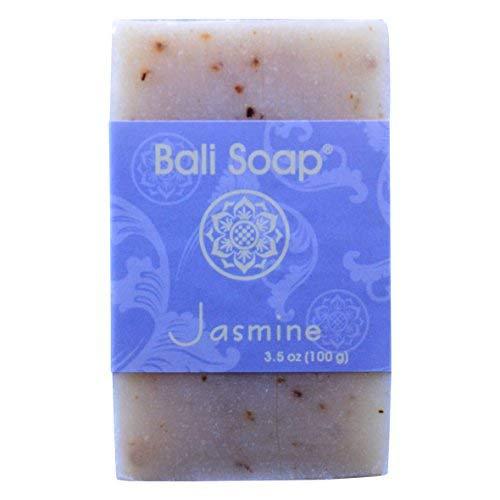 Bali Soap - Jasmine Natural Soap Bar, Face or Body Soap Best for All Skin Types, For Women, Men & Teens, Pack of 12, 3.5 Oz each ()