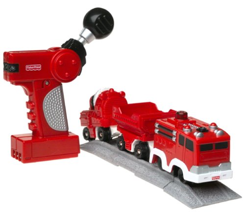 Fisher-Price GeoTrax Rail & Road System Rapid Rescue Fire Squad