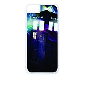 Traveling Police Box Hard White Plastic Snap - On Case-Apple Iphone 4 - 4s - Great Quality!