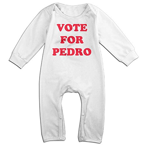 HOHOE Newborn Vote For Pedro Logo Long Sleeve Outfits 24 (Napoleon Dynamite Outfit)