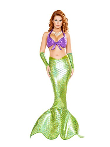 Sexy Mermaid Adult Costume Green and Purple - Large -