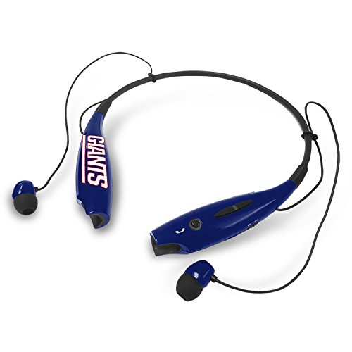 Mizco Sports Licensed Bluetooth Neckless Earbuds for NFL New York Giants