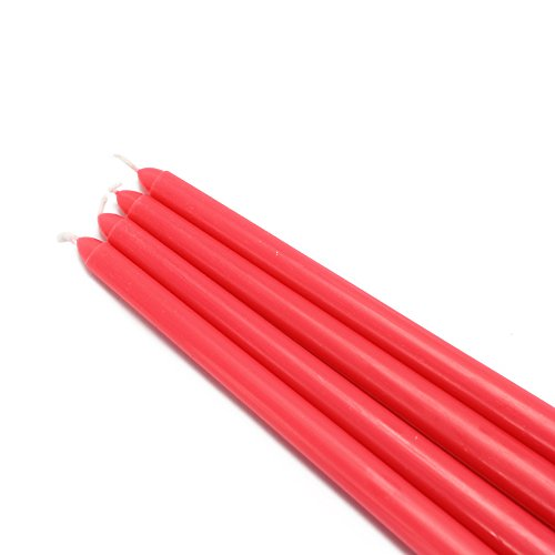 Zest Candle CEZ-071_12 144-Piece Taper Candle, 12'', Ruby Red by Zest Candle (Image #2)