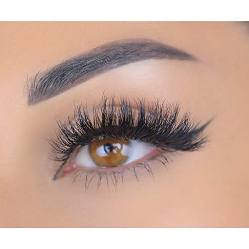 cf7a9aa44b7 Glamylicious 100% 3D Mink Eyelashes by Lashylicious Natural Fluffy With  Super Felxible Band and Useable