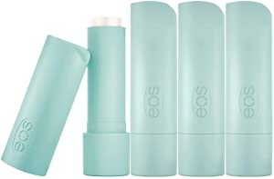 eos Natural & Organic Stick Lip Balm - Sweet Mint | Certified Organic & 100% Natural | Deeply Hydrates and Seals in Moisture | 0.14 oz | 4-Pack | Packaging May Vary