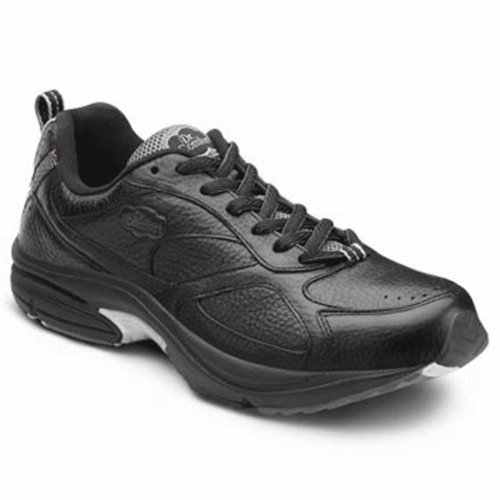 Image of the Dr. Comfort Winner Plus Men's Therapeutic Diabetic Extra Depth Shoe: Black 11 Medium (B/D) Lace