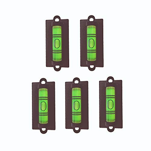 5x Standard Levels Bubble Spirit Level Use for RV, Travel Trailer, Camper, Tripod, Phonograph, Turntable