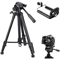 Tripe Universal 1,80M preto prata para Câmeras Nikon Canon Fotográficas com suporte para celular e bolsa SLC3600 Luuk…