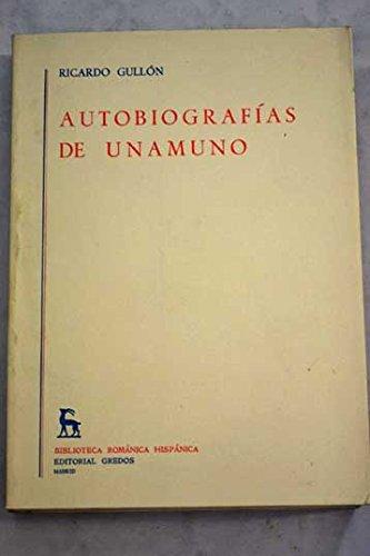 Descargar Libro Autobiografía De . De Miguel Miguel De Unamuno