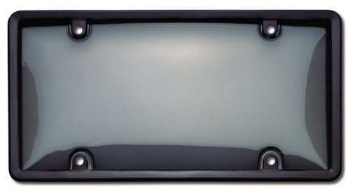 Cruiser Accessories 60520 Novelty / License Plate Combo Bubble Shield and Frame, Smoke and Black
