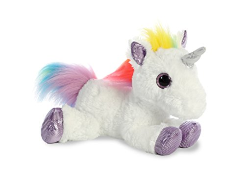 Aurora World Flopsie Plush Toy Animal, Rainbow Unicorn, 12