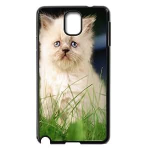 White Persian Kitten Samsung Galaxy Note 3 Cases Unique for Guys, Luxury Case for Samsung Galaxy Note 3 [Black]