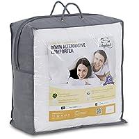 Furinno Angeland Ultra Soft Microfiber Goose Down Alternative Comforter, King, White