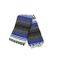 Mexican Camping Blanket - Assorted Vibrant Colours 56 Inches by 76 Inches