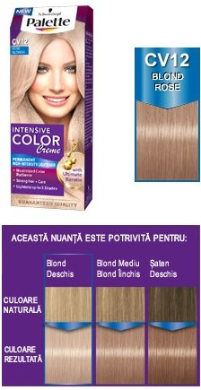 Schwarzkopf Palette Intensive Color Creme CV12 Blond (Hair Color Palette)
