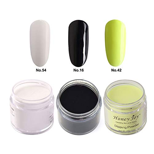 3pcs 28g/Box Multi Colorful Dipping Powder Without Lamp Cure Nails Dip Powder Summer Gel Nail Color Powder Natural Dry ()