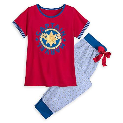 Disney Adult Pjs (Marvel  Captain Pajama Set for Women Size Ladies)