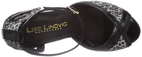 Negro Lise Punta LindvigJANE Zapatos Negro Descubierta Mujer de cpcZUW