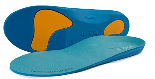 Pro11 Wellbeing The TITAN Dual Shock Orthotic sports Insole, Blue,6.5-8 UK