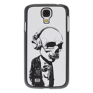 Skull with Earphone Pattern Hard Case for Samsung Galaxy S4 I9500