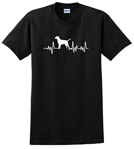 Labrador Retriever Rescue Mom Dad Labrador Retriever Gifts Dog Lover Heartbeat Lab T-Shirt 3XL Black