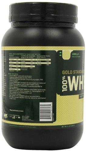 Optimum Nutrition 100% Whey Gold Standard Whey, Vanilla Flavored, 1.9 lbs