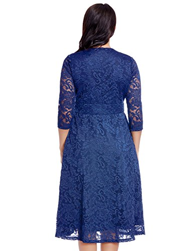 Plus size royal blue skater dress