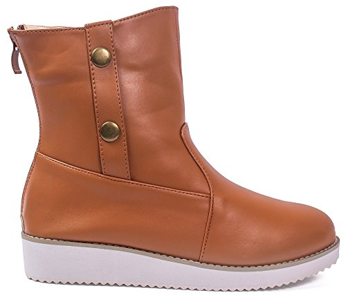 Couleur Pointu Unie Femme Shoes AgeeMi Zip Twqvax8xI