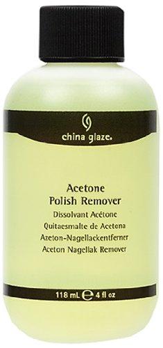 China Glaze Yellow Acetone Polish Remover, 8 Ounce