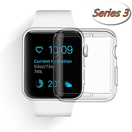 Apple Watch 3 Case, Smilelane iwatch Screen Protector All-around 0.3mm Ultra-thin Soft Transparent Cover for apple watch Series 3 42mm