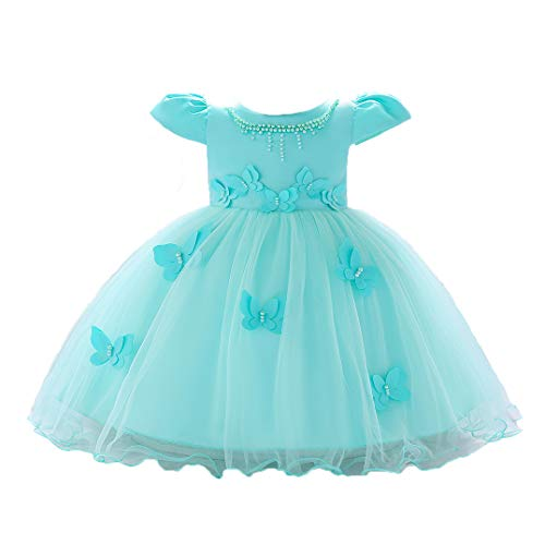 (LZH Baby Girl Dress Formal Christening Baptism Gowns Pageant Dress Toddler )