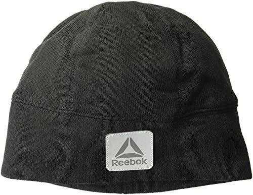 Reebok Men's Accessories Men's Sweater Fleece Beanie Hat, Black, One Size (Mens Reebok Hats)