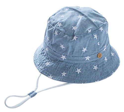 La vogue Jungen Fischerhut UV-Schutz Sonnenhut Schirmmütze Schlapphut 44-54cm (Hutumfang54cm, Hellblau)