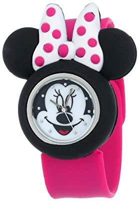 Minnie Mouse Kids' Analog Watch with Minnie Mouse Shape Case, Pink Strap - Official Disney Minnie Mouse Character on the Dial, Safe for Children - Model: MN1097 from Accutime Watch Corp.