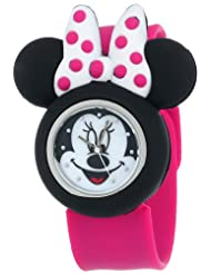 Disney Kids\' MN1097 Minnie Mouse Watch with Pink Rubber Band