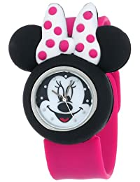 Disney Minnie Mouse MN1097 Reloj con correa rosada de goma, para niños