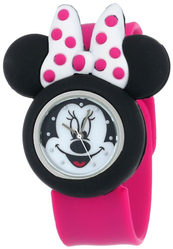 Disney Girl's Quartz Metal and Rubber Watch, Color:Pink (Model: MN1097)