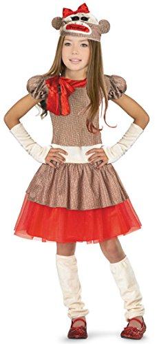 Sock Monkey Girl Costume - Small ()