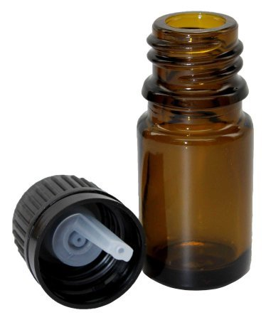 (5 Ml (1/6 Fl Oz) Amber Glass Essential Oil Bottle with European Dropper Cap - 8 Pack)