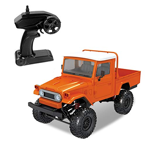 2019 Hot Childrens Day Front LED Light 1:12 4WD RC Car Off-Road Military Rock Crawler Truck Buggy Toys Kids Gift (Orange) by Aurorax Electric (Image #3)