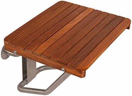 Teak Wall Mounted Shower Bench Seat 24 W X 16 D Plantation Teak Ada Compliant