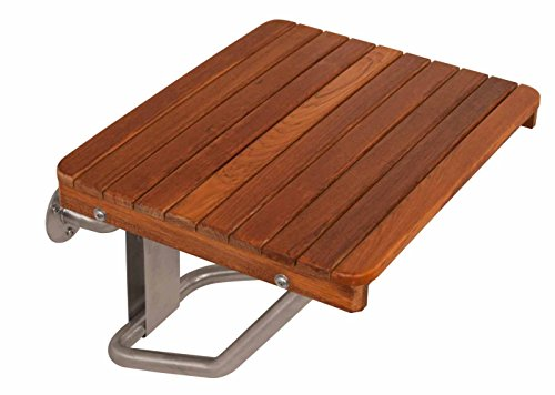 Teak Wall Mounted Shower Bench Seat | 24