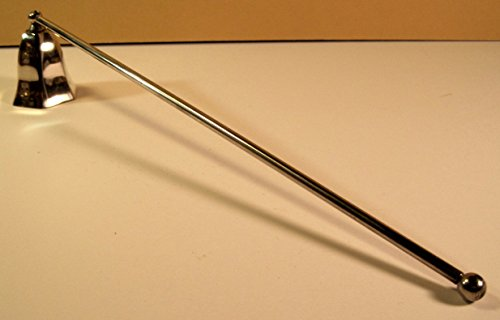 Silver Plated Candle Snuffer - Candle Snuffer, Silver-Plated, Vintage, Hinged, 12 Inch Handle