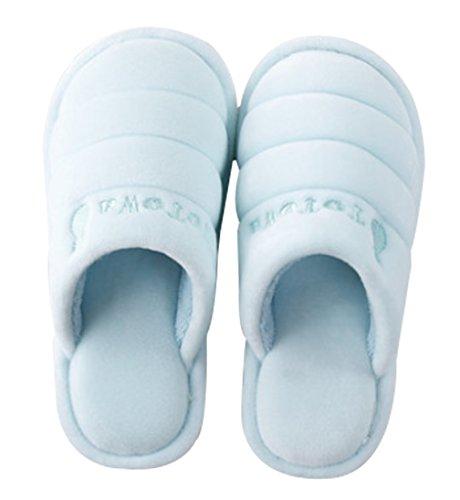 Cattior Womens Warm Comfortabel Huis Indoor Slippers Pluizige Slippers Blauw